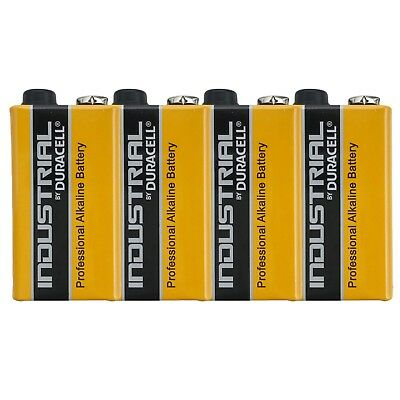 4 x Duracell Industrial 9V Alkaline battery LR22 BLOCK MN1604 6LR61 6LP3146