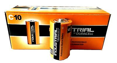 10 x Duracell Industrial C 1.5V Alkaline battery LR14 MN1400 BABY