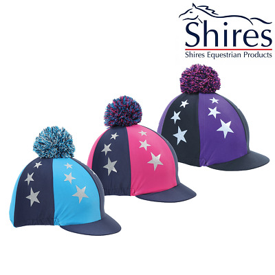 Shires Pom Pom Hat Silk With Stars (841) **SALE**