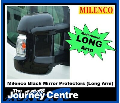 Milenco Mirror Protectors Fiat Ducato Peugeot Boxer Citroen Relay LONG ARM Black