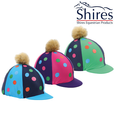Shires Pom Pom Hat Silk with Spots  (843) **SALE**
