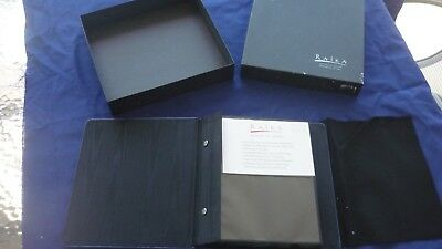 """raika ARTISTRY IN LEATHER top grain cowhide leather photo album /blue/4""""x 6"""""""