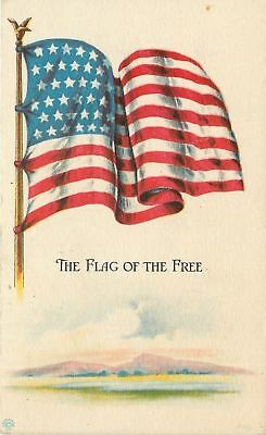 WWI Patriotic~Old Glory: The Flag of the Free~Waves~Purple Mountains~1917 PC