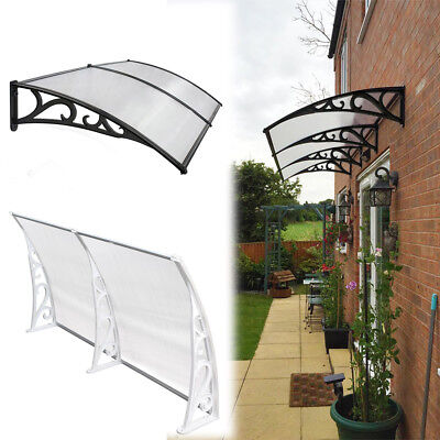 Outdoor Door Window Canopy Awning Porch Sun Shade Shelter Patio Rain PVC Cover