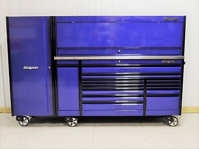 "snap on purple 84"" epiq tool box, stainless steel top, hutch ..."