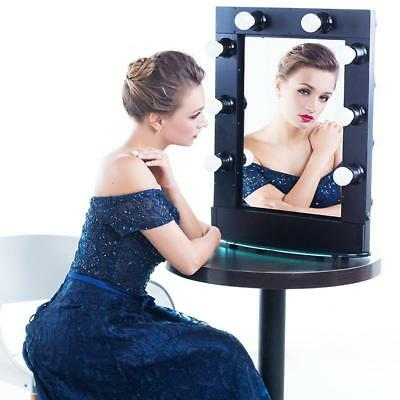 White Fashion Makeup Vanity Mirror with Light Stage Large Beauty Mirror Neu.~