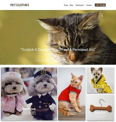 Pet Clothes Website Business - Earn $575 A SALE. Free Domain|Hosting|Traffic