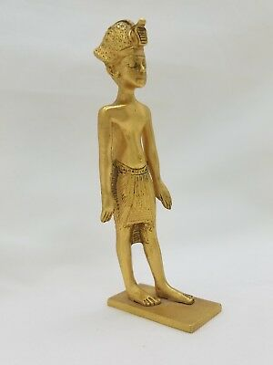 Vintage MMA 1976 Brass Egyptian Revival King Tut Figurine