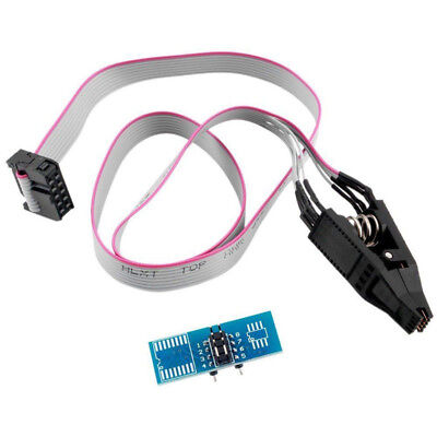 SOP8 SOIC8 flash chip IC Test Clip socket cable adpter BIOS 24/25/93 programmer