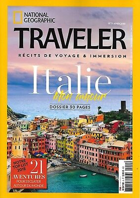 NATIONAL GEOGRAPHIC TRAVELER n°9 hiver 2018 Italie mon amour/ Far West/ Equateur