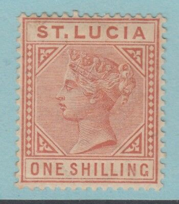 St Lucia 36  Mint Hinged Partial Toned Og * No Hidden Faults Very Fine
