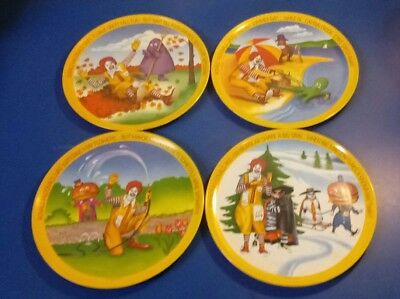 Complete Set of 4 McDonald's PLATES for the 4 Seasons 1977 Lexington