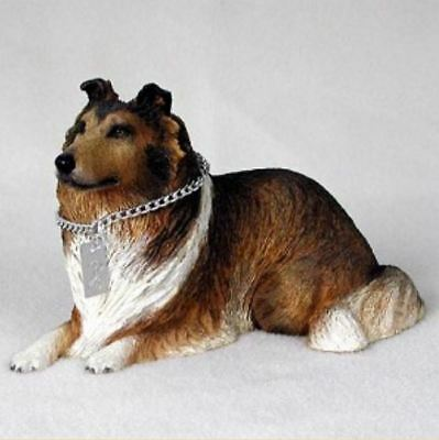 COLLIE (Sable)  MY  DOG  Figurine Statue Pet Lovers Gift Resin Hand Painted