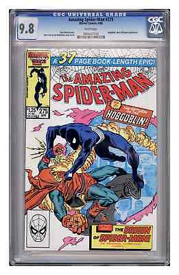 Amazing Spider-Man #275, CGC 9.8. White pages.