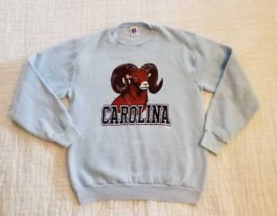 Vintage 80S Russell Athletic M Carolina Rameses Unc Pullover Sweatshirt - Usa