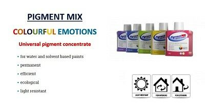 Pigment Mix Wall Emulsion Paint Colourant Tint Stain  Interior Exterior Inchem