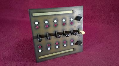 Vintage Telephone Switch Board Panel - Buz On/off Hold Flash & Ring