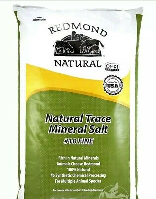 Redmond Natural Trace Mineral Salt for Horses Livestock #10 Fine 5 lb Repackaged