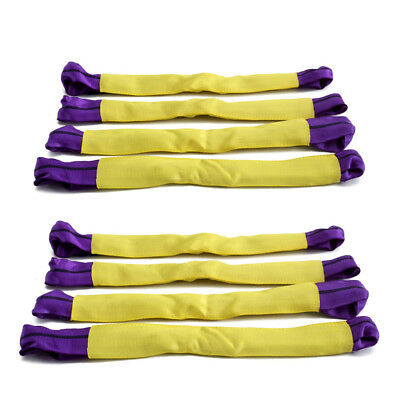 8x Securing Alloy Wheel link Straps Axle Recovery Vehicle Trailer Purple Yellow