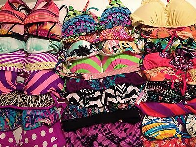 Wholesale Lot 40 Designer BIKINI Tops and Bottoms Junior NEW Mixed Colors Sizes
