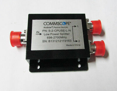 COMMSCOPE s-2-cpuse-l-n 698-2700 MHz 2-Way Splitter w/ N Females