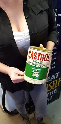 Vintage Castrol Full Motor Oil Metal Can SAE 30 Mineral Oil Wakefield and Co.