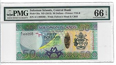 P-35a 2013 50 Dollars, Solomon Islands Central Bank, PMG 66EPQ