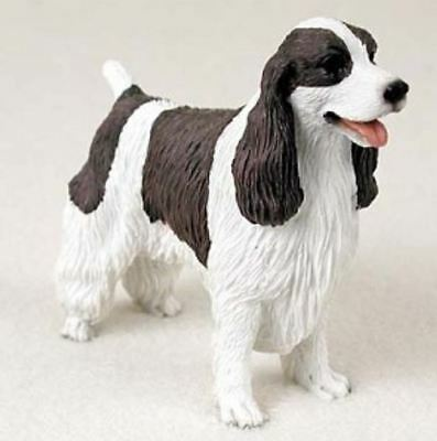 SPRINGER SPANIEL (LIVER WHITE) DOG Figurine Statue Hand Painted Resin
