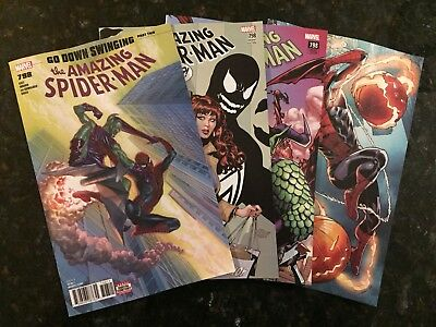 Amazing Spider-Man #798 4-Cover Variant Set! Reg, Garron, Connect, Venom [NM]