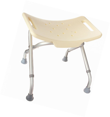 DMI Lightweight Folding Bath and Shower Seat, Adjustable Height, Off-White