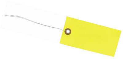 """Quality Park G14053B Tyvek Spunbonded Olefin Pre-Wired Shipping Tag, 4-3/4"""" Leng"""