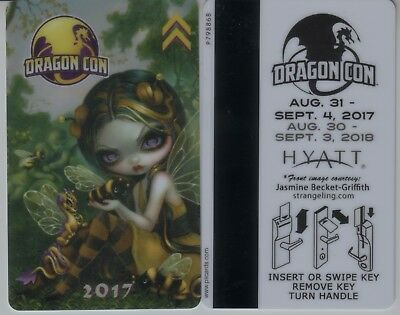 Dragon Con 2017 Hyatt Room Key Jasmine Becket-Griffith DragonCon Keycard