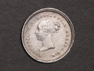 GREAT BRITAIN 1848 2 Pence Silver VF-XF