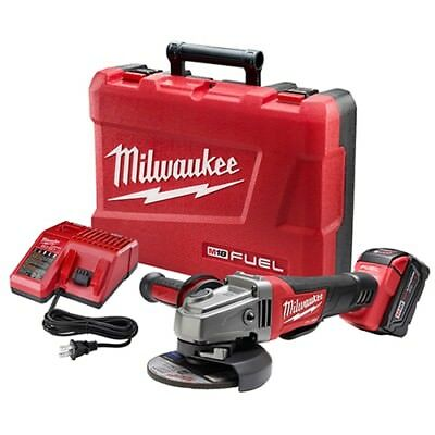 """Milwaukee 2780-21 M18 FUEL 4-1/2 - 5"""" Grinder, Paddle Switch No-Lock, 1 Battery"""
