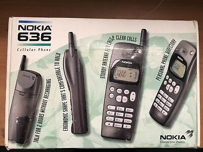 Vintage ~ NOKIA 636 Cell Phone ~ Battery no charge ~ UNTESTED ~ FREE SHIPPING