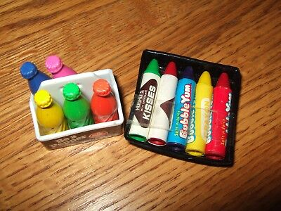 Vintage Dr. Pepper case bubble yum kisses mini crayons preowned but not used