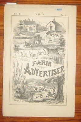 1870, New England Farm Advertiser, Land Promotional, Copper Weather Vain Ad