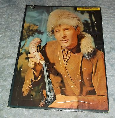 """Disney's Official Davy Crockett By Whitman Tray Puzzle #4423:29 About 15"""" X 11"""""""