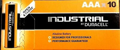 10 x Duracell AAA Industrial 1.5V Alkaline battery procell MN2400 LR3