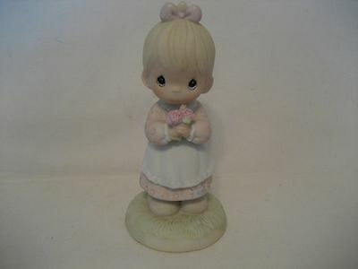 Precious Moments-Mommy I Love You-112143-1987 Samuel J. Butcher Bisque Figurines