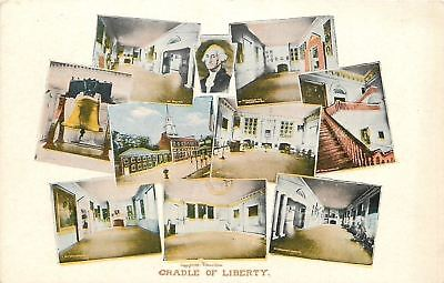 Philadelphia PA~Cradle of Liberty~Interior Multi-View Independence Hall~1907 PC