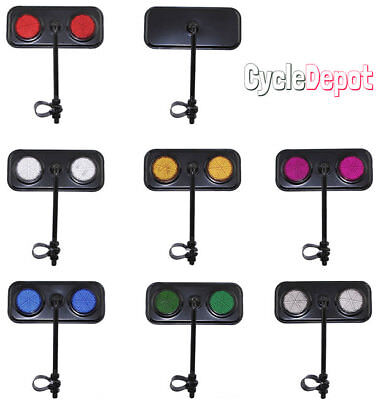 NEW!! Black Rectangle Rear View Bicycle Mirror Reflector Cruiser Lowrider Bike