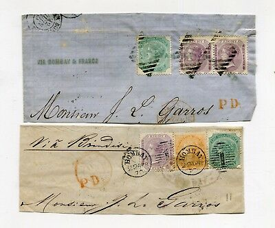!!! British Colony, 2 Part Of Covers From India