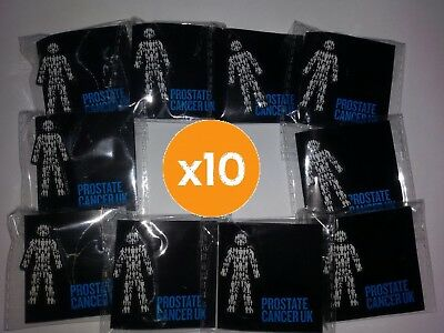10 X BRAND NEW Prostate Cancer UK (you get TEN!) - Men United  Pin Badge Sealed