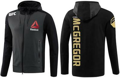 Conor McGregor UFC Reebok Black Limited Edition Champion Walkout Hoodie For Men