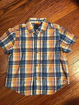 Boys Childrens Place Short Sleeve Plaid Shirt Size 24 Month