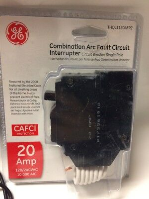 GE (THQL1120AFP2) 20amp 1-Pole Combination Arc Fault Circuit Interrupter