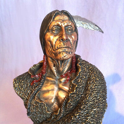 "Chilmark Metalart ""old Storyteller"" Cheyenne Sculpture - #545/950"