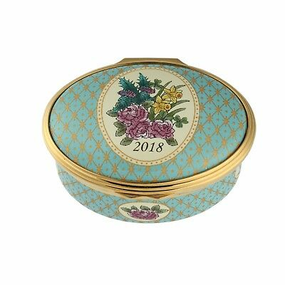 Halcyon Days Enamel Annual Year Box 2018 with box and COA NEW MINT