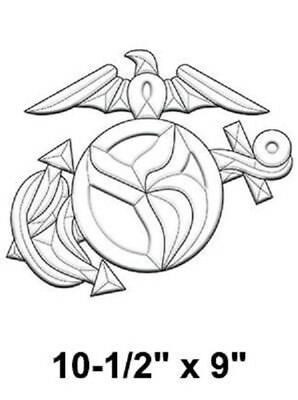 Stained Glass Supplies - United States Marines Emblem Bevel Cluster EC282